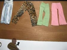 CIRCA 1970s HANDMADE barbie Ken Doll Best Buy Type VINTAGE clothes-4 PAIRS PANTS