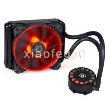 ID-COOLING FrostFlow 120L Red LED Water CPU Liquid Cooler 120mm Radiator PMW Fan
