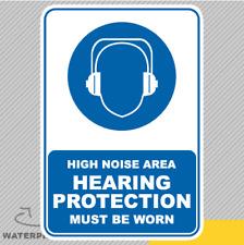 Area di rumore elevato di protezione dell'udito Adesivo Vinile Decalcomania Finestra Auto Van Bici 2797