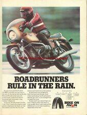 Avon Tyre Roadrunners Motorcycle 1977 Magazine Advert #242
