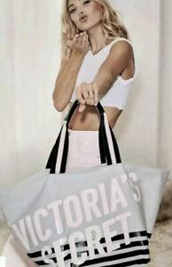 Victoria's Secret Grey Tote Bag VS Beach Shopper Tote Bag