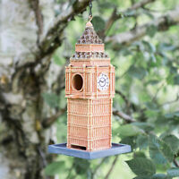 Novelty Big Ben Bird Feeder House Hanging Garden Feeding Station Outdoor Wild