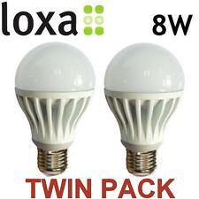 Loxa Warm White Light Bulb 8W LED E27 Edison Screw Lamp Bright 600lm 50000h