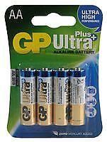 Batería Ultraplus 4PK pilas alcalinas AA no recargables-CM84488