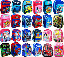 NEW LARGE SCHOOL BAG BACKPACK GIRLS BOYS KIDS SPIDERMAN MOANA MICKEY PONNY GIFT