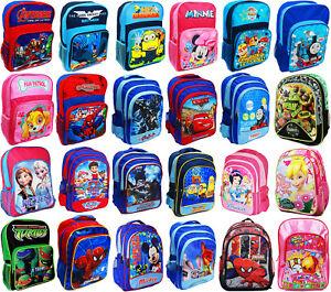 NEW LARGE SCHOOL BAG BACKPACK GIRLS BOYS KIDS SPIDERMAN MOANA MICKEY PONNY GIFT