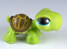 Littlest Pet Shop Turtle #230 Green With Turquoise Blue Eyes