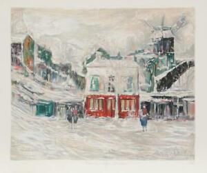Maurice Utrillo, Montmarte, Lithograph
