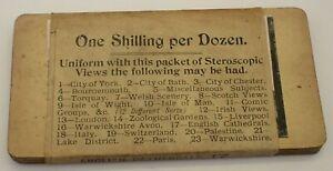 Rare Set 12 Stereoviews, Original Packaging, English Cathedrals, Unopened