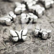 100pcs Charm Metal Beads Tibetan Silver Loose Spacer DIY Jewellery 8x5.5x3mm