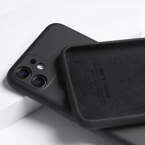 For iPhone 12 mini 11 12 13 Pro Max XS XR 8 SE 2 Liquid Silicone Soft Case Cover