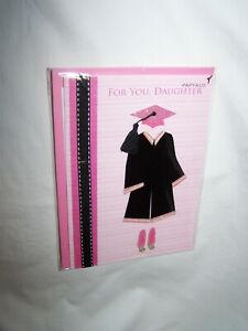 "Papyrus Graduation Greeting Card/Envelope; ""For Daughter"" Cap & Gown"