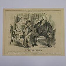 "7x10"" punch cartoon 1866 PHYSIC FOR FENIANS"