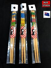 3 pairs Cute Japanese Style Bamboo Chopsticks 165mm - For Kids (A96)