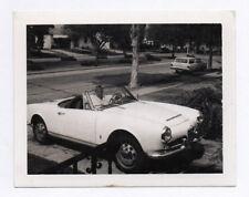 PHOTO ANCIENNE Voiture Auto Automobile 1960 USA Américaine Blanche Garée