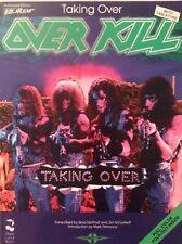 OVERKILL GUITAR TAB / TABLATURE / TAKING OVER  / OVERKILL GUITAR SONGBOOK