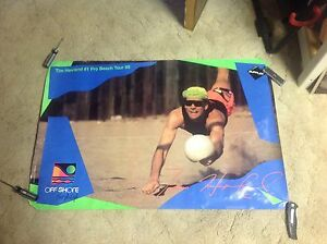 TIM HOVLAND Promo POSTER 36x24. fivb AVP Beach Volleyball karch kiraly