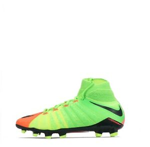 Nike Hypervenom Phantom 3 DF Junior Firm Ground Football Boots Green/Black