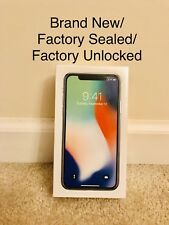 Brand New iPhone X - 256 GB - Silver  (Factory Unlocked) All GSM + Free shipping