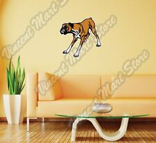 "Boxer Active Dog Breed Pet Friend Wall Sticker Room Interior Decor 25""X20"""