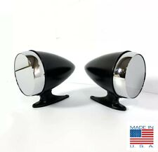 Pair Premium Bullet Style Black Side Mirrors For 1965-1968 Ford Mustang / Shelby