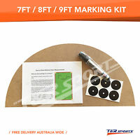 Marking Kit for 7FT 8FT 9FT Pool Snooker Billiard Table Instruction & Pen