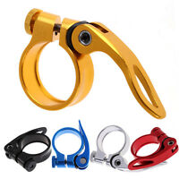 MTB Bike Bicycle Cycling Saddle Seat Post Clamp Quick Release QR Style 34.9mm