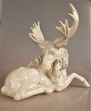 Porzellanfigur Porzellan Elch Rentier
