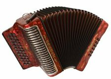 Hohner Button Accordion Corona II XTREME GCF, With Bag And Straps, Pearl Red