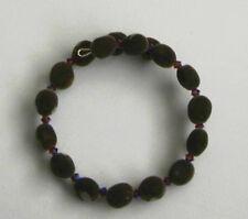 Handmade Hawaiian mgambo seed bracelet with amethyst color 2AB Swarovski bicones
