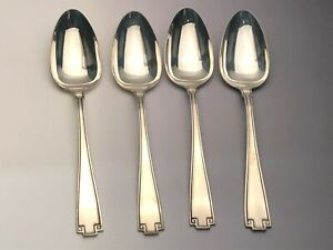 Etruscan by Gorham Sterling Silver set of 4 Oval Soup Spoons 7""