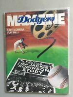 LOS ANGELES DODGERS JUNE 1989 MAGAZINE, & SCORECARD VS. THE BRAVES