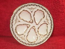 Gorgeous White & Gold Limoges Oyster Plate, op330 ANTIQUE GIFT QUALITY!!