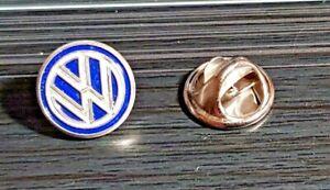 Volkswagen VW Pin Logo blau-silbern - Maße 13mm