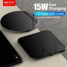 15W Fast Qi Wireless Charger Dock For iPhone X 8 XR XS Samsung S8 S9 plus Note 9