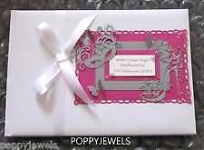 HANDMADE PERSONALISED HEN NIGHT PARTY GUEST BOOK PICK A COLOUR