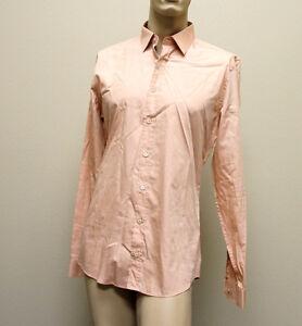NEW Authentic GUCCI Mens Cotton/Silk Dress Shirt 39/15.5 Slim 269067 5559