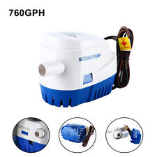 12V 760GPH Automatic Bilge Pump Marine Boat RV Auto Submersible Water Pump US