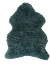 Royaume-Uni Fait Doux Large Véritable Tapis Peau de Mouton Cacher Pelt Teal Bleu