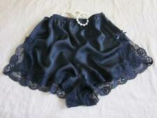 French Knickers Lacy Black Satin M NEW Soft Silky Drapey Panties Vintage Style