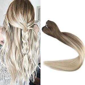 Full Shine Remy Human Hair Weft Straight  Balayage Hair Bundle Color 100g/Bundle