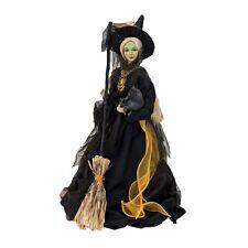 "FGS72650 20"" Mary Bradbury Salem, MA Witch Broom Halloween Art Doll Florence Lea"