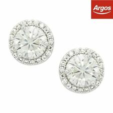 Cubic Zirconia Stud White Gold Filled Costume Earrings