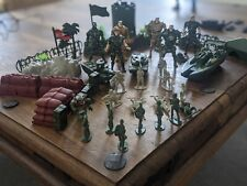 Assorted Army toys and other figurines and lego