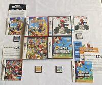 Nintendo DS New Super Mario, Mario Kart, Mario Party DS & Mario Hoops 3 On 3