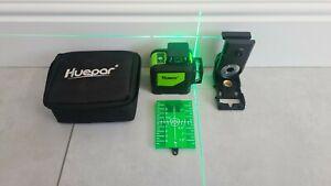 Self-Leveling Green Laser Level - Huepar 902CG Green Beam Cross Line Laser 360