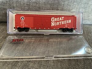 N Scale Atlas 50' Box Car GN #36444 Great Northern #35729