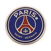Pin Fútbol París Saint Germain PSG Oro de Ley 18k Diamante Azul Rojo Emblema