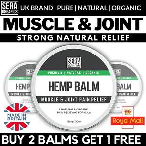 Hemp Oil Pain Relief Cream Balm | Arthritis Stiffness Gout Muscle Joint Relief
