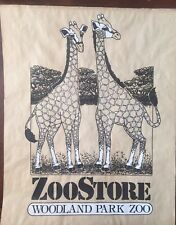 Vintage Woodland Park Zoo Sign Poster Giraffes Zoo Store